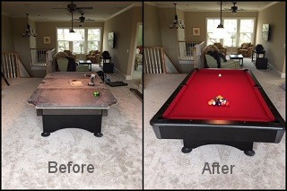 expert pool table recovering in Centralia content img3
